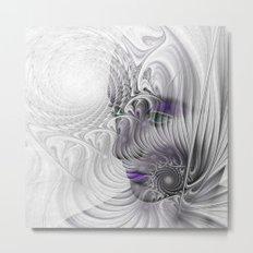 behind the fractal -a- Metal Print