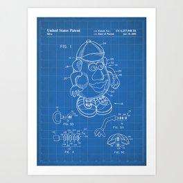 Mr Potato Head Patent - Potato Head Art - Blueprint Art Print