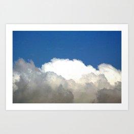 Grey Clouds Blue Sky Art Print