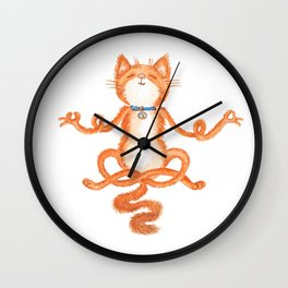 Zen Cat Meditation Wall Clock