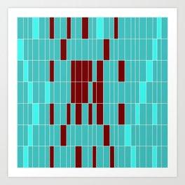 Alien Map Abstract Art Print