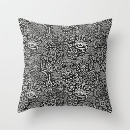 Surreal pattern Throw Pillow