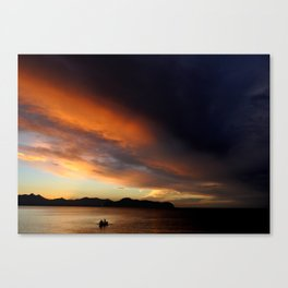 sunset  xxxxx Canvas Print