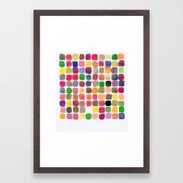 100 Colors Framed Art Print
