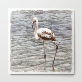 Find Your Footing And Stand Firm Watercolor Metal Print