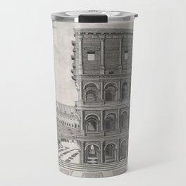 Vintage Diagram of The Roman Colosseum (1581) Travel Mug