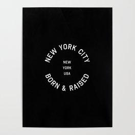 New York City - NY, USA (Badge) Poster