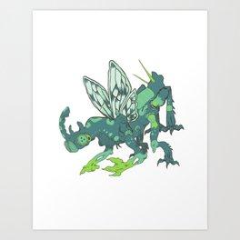 Buggin' Blue Art Print