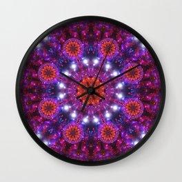 Galactic Halo Mandala Wall Clock