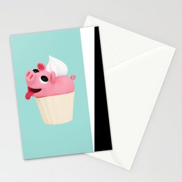 Rosa Cupcake blue Stationery Cards