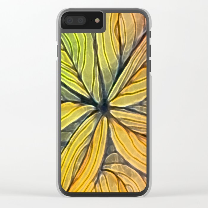 Doodled Aura-Leah Digitized Macro Clear iPhone Case