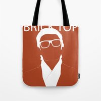 snatch Tote Bags featuring Brick Top by TdL MD