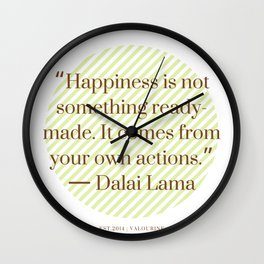 4      Positive Vibe Quotes   190522 Wall Clock