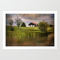 kentucky Art Prints featuring Kentucky CountrySide by ThePhotoGuyDarren