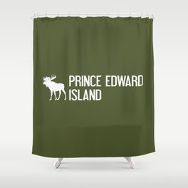 Prince Edward Island Moose Shower Curtain