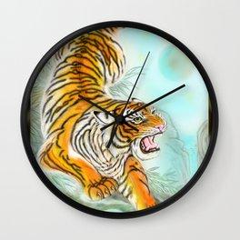 Oriental Tiger Wall Clock