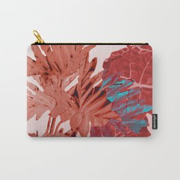 Big Jungle Leaves red watercolor Design Carry-All Pouch
