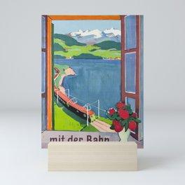Nostalgie mit der bahn in unsere berge cff sbb Mini Art Print