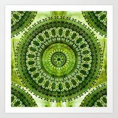 Vintage Lime Mandala Art Print