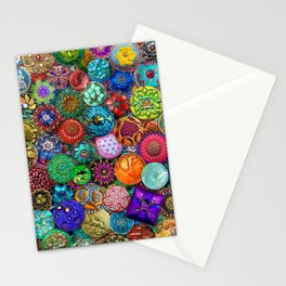 Glass Buttons Stationery Cards