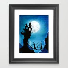 Witch Sisters Journey Home Framed Art Print