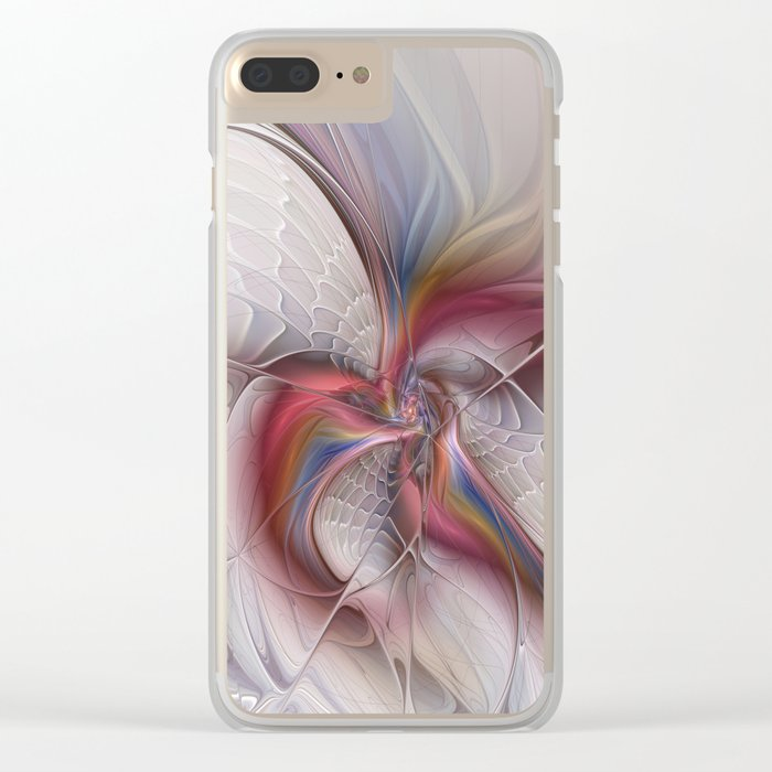 Abstract Dancing, Fractal Art Clear iPhone Case