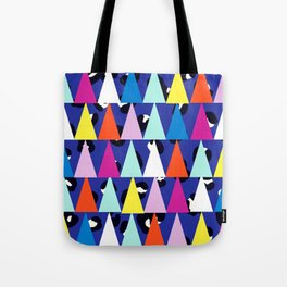 Triangle Animal Print in Royal Blue Tote Bag
