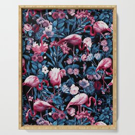Floral and Flamingo VIII Serving Tray