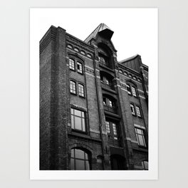 Hamburg House of Bricks Art Print