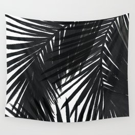 Palms Black Wall Tapestry