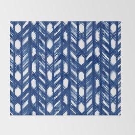 Shibori Lattice Throw Blanket