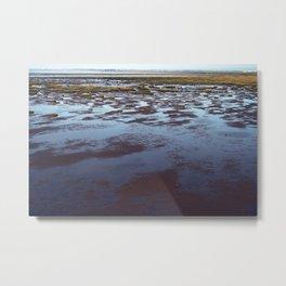 Low Tide at Southport - UK Metal Print