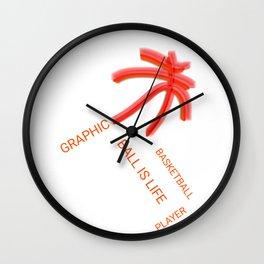 Graphic Basketball Statement Wall Clock