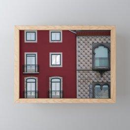 Building facades Heritage Architecture, Lisbon, Portugal Framed Mini Art Print