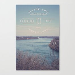 Turn Off Your Phone Canvas Print