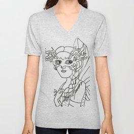 Fairy Masquerade Black and White  Unisex V-Neck