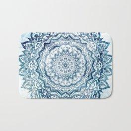 BLUE JEWEL MANDALA Bath Mat