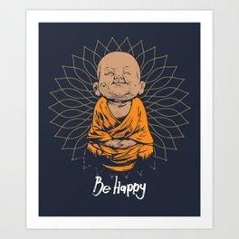 Be Happy Little Buddha Kunstdrucke