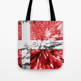 Extruded Flag of Denmark Tote Bag
