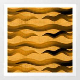 """Abstract Oriental Tiger"" Art Print"