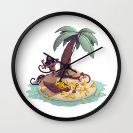 Monkey Desert Island Wall Clock