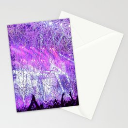 Cheering Crowd Celebrating At Concert Lilac Saturation Stationery Cards