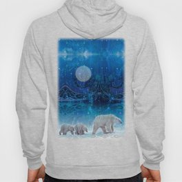 Arctic Journey of Polar Bears Hoody