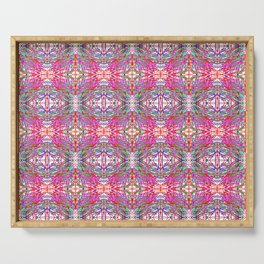 colorful symmetry Serving Tray