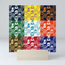 Retro Santa collection by Studio M & Co Mini Art Print