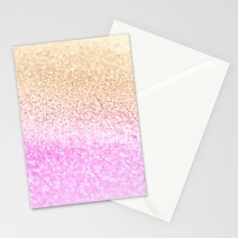 GOLD PINK GLITTER by Monika Strigel Stationery Cards
