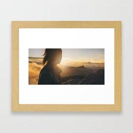 Islander sunset Framed Art Print