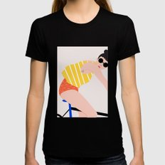 BIKE II Black X-LARGE Womens Fitted Tee