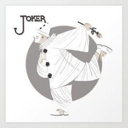 Joker / Pierrot Art Print