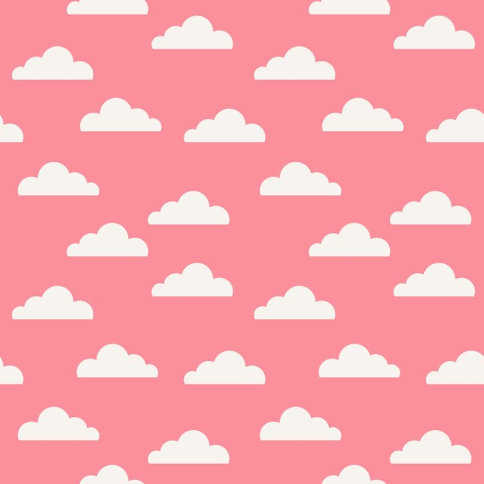 Clouds Pink Duvet Cover
